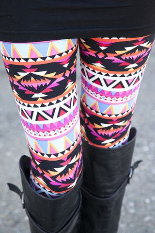 Aztec Sunset Leggings. These are crazy but I love them for some reason