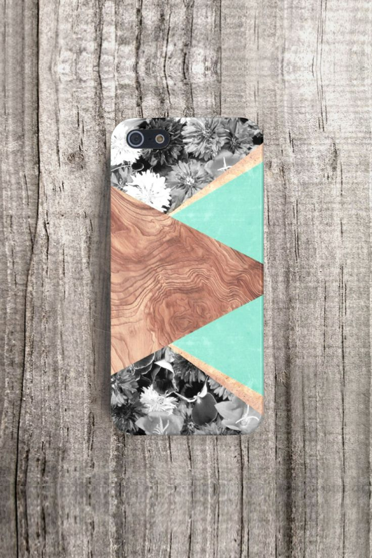 Mint Wood case, available for iPhone 4/4S, 5/5S & Samsung Galaxy S3/S4 by CSERA