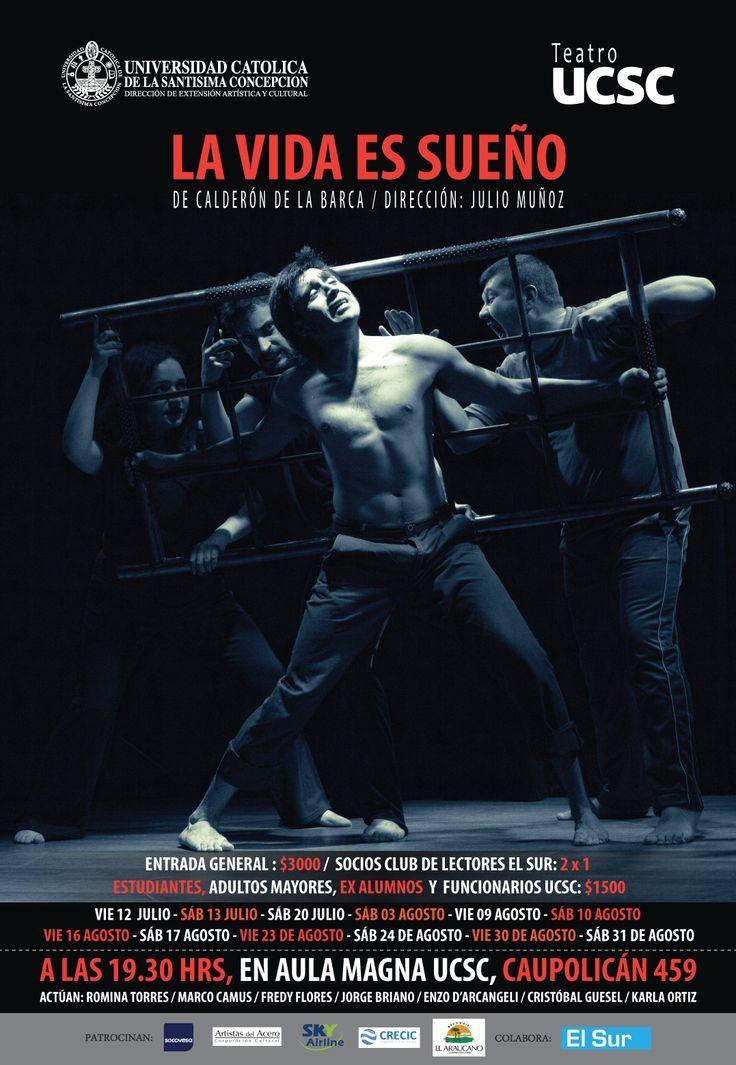 """Afiche para obra de teatro """"La Vida es Sueño"""" . La fotografía fue hecha por mí."""