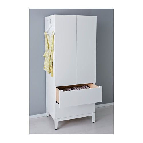 IKEA NORDLI wardrobe Adjustable feet make it possible to compensate any irregularities in the floor.