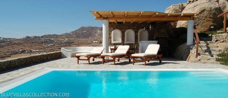 Nephele Villa pool area
