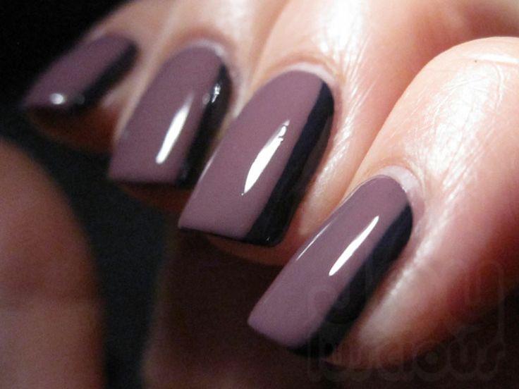Purple Side French Manicure | Joyluscious - Nail Art ...