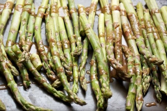 Miso roasted asparagus | Interesting vegetables | Pinterest
