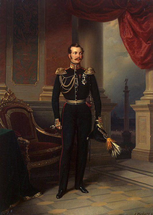Franz Kruger  Portrait of Grand Prince Alexander Nikolayevich