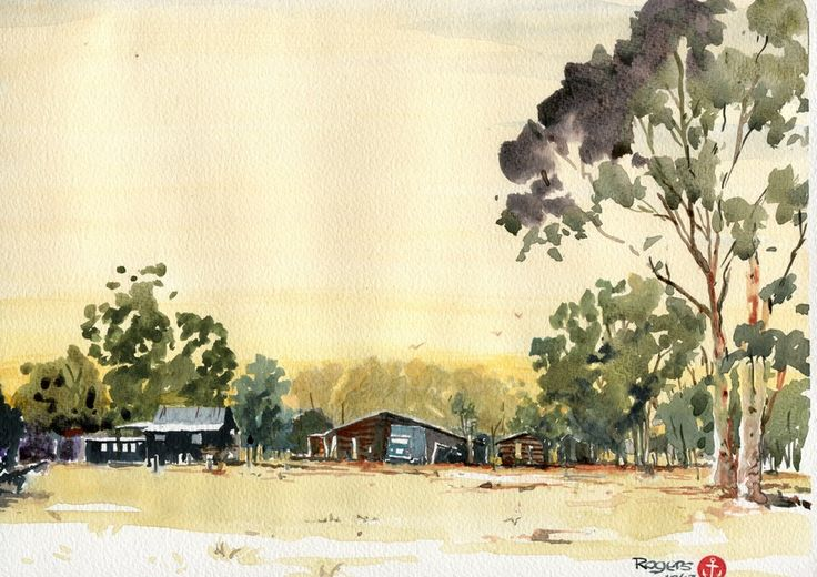 Here is a quick little sanity reliever I did in between house renovations of an old farm near where I now live.  It is at Pacific Haven on the Fraser Coast and was painted in watercolour.