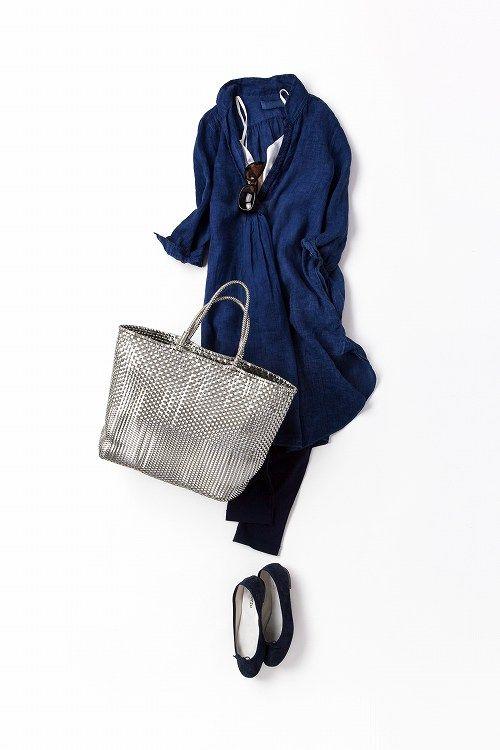 素材や色合いが違うネイビーで、夏の日差しに対抗!2012-08-14 | dress brand : バグッタ(Bagutta) | trousers brand : ユニクロ (uniqlo)