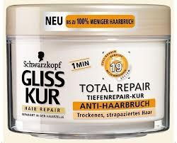 Gliss Kur 1 Min Complex with 19 Ingredients Anti HairBreakage Treatment by Gliss Kur. $17.75. Complex With 19 Ingredients. For Dry, Damaged Hair. With Liquid Keratin Complex. Gliss Kur 1 Min Total Repair Anti HairBreakage Treatment 300ml.  Made in Germany