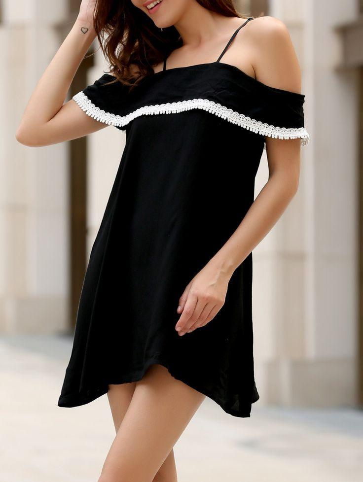 Stylish Women's Off The Shoulder Flounce Dress