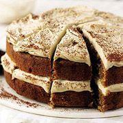 Κέικ με καφέ και γλάσο μόκα