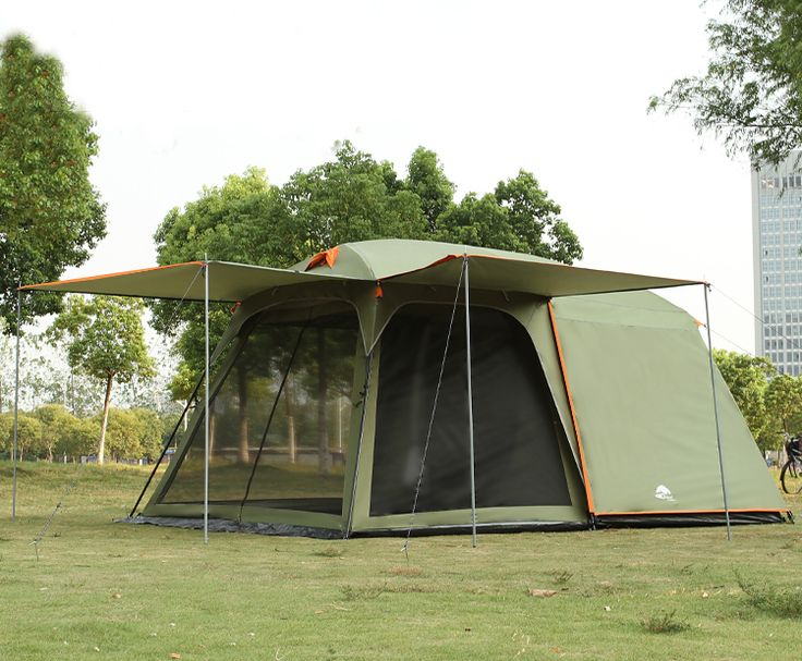 One hall one bedroom 5-8 person use double layer high quality waterproof windproof camping family tent #Affiliate