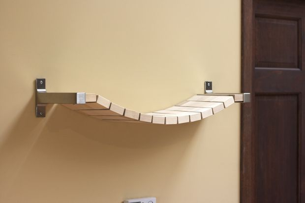 Making this part of the climbing shelves for my cats. Only longer. IKEA hacks are awesome. :)
