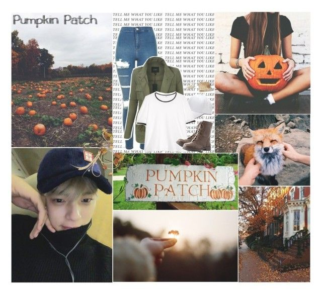 Pumpkin Patch w/ Minhyuk by k-pop-things-and-such on Polyvore featuring polyvore fashion style MANGO LE3NO Topshop Charlotte Russe clothing
