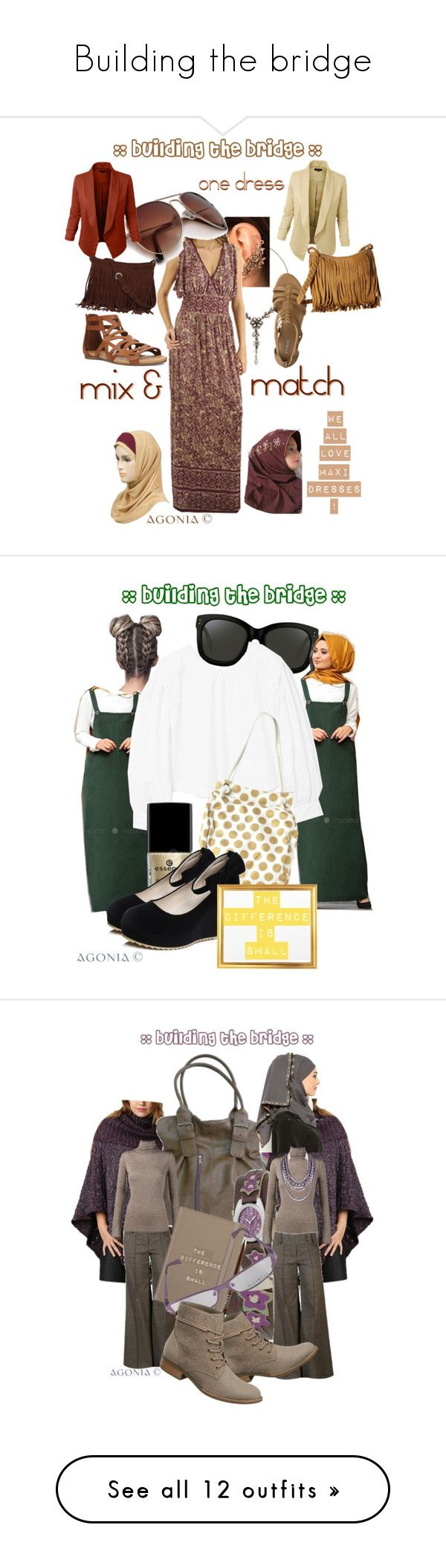 """""""Building the bridge"""" by agonia ❤ liked on Polyvore featuring Monsoon, LE3NO, Scully, Religion Clothing, Amira, Nine West, Linda Farrow, MANGO, Dorothy Perkins and By Lassen"""