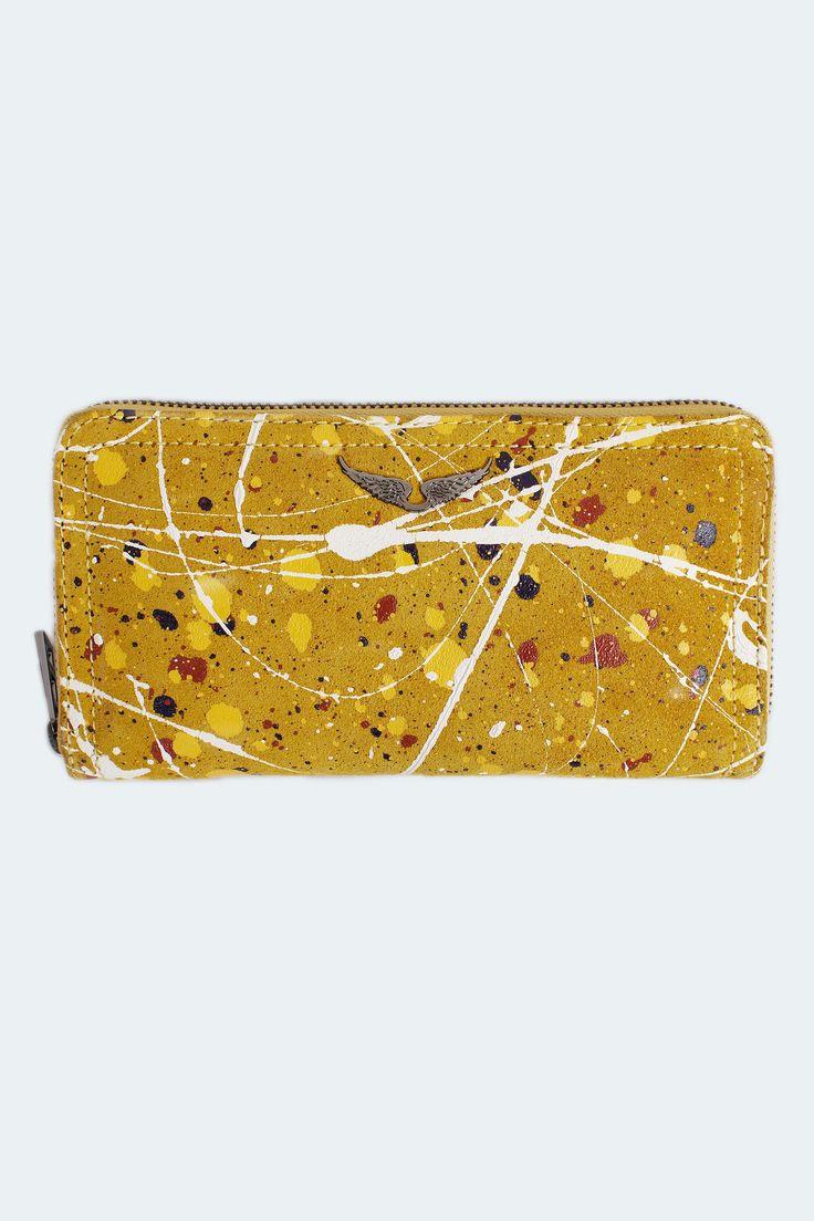 portefeuille pour femme compagnon pollock jaune Zadig & Voltaire