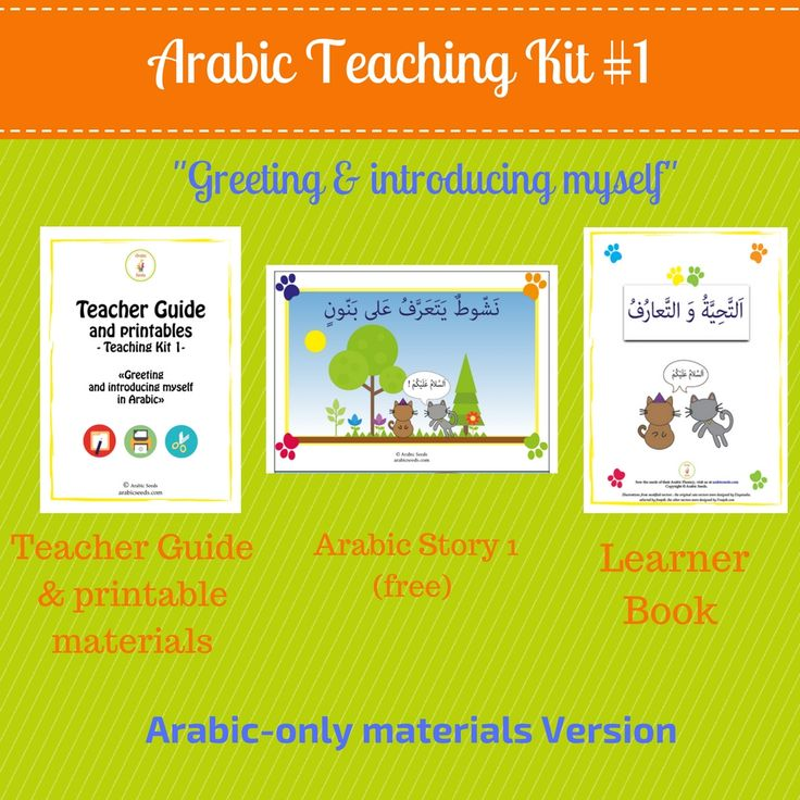 "www.arabicplayground.com ""Greeting & Introducing myself "" playful Unit for Native Arabic Speakers by Arabic Seeds"