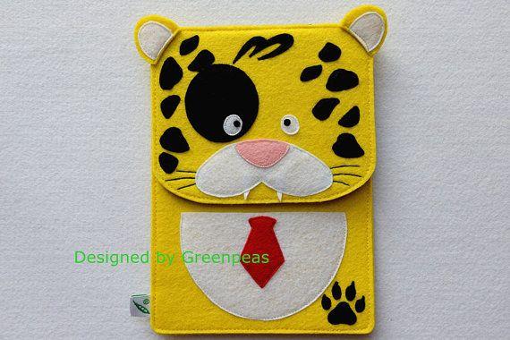 GP Animal Family, Cute Leopard Felt iPad Mini Case, iPad Mini Cover, iPad Mini Sleeve