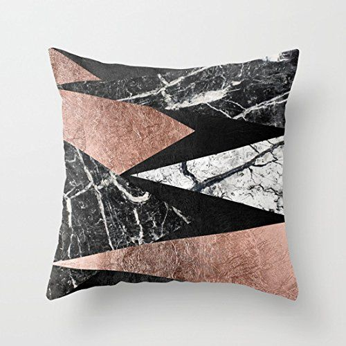 Rose Black Gold Pillow Case Cotton