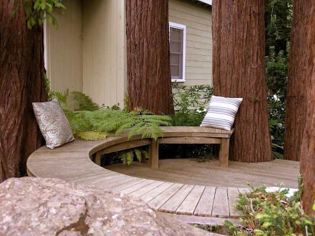 Imagine Having These Huge Redwoods In Your Backyard And Incorporating Them  Into This Deck And Curved