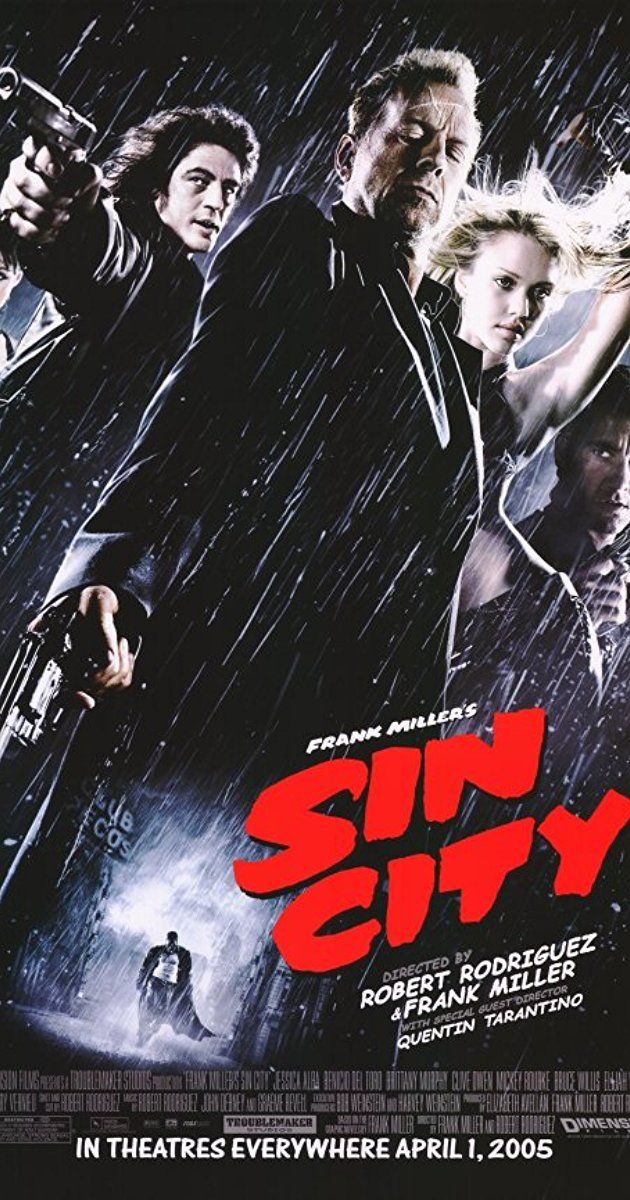 Directed By Frank Miller Robert Rodriguez Quentin Tarantino With Mickey Rourke Clive Owen Bruce Willis Jessica Alba A Sin City Movie City 2005 Sin City