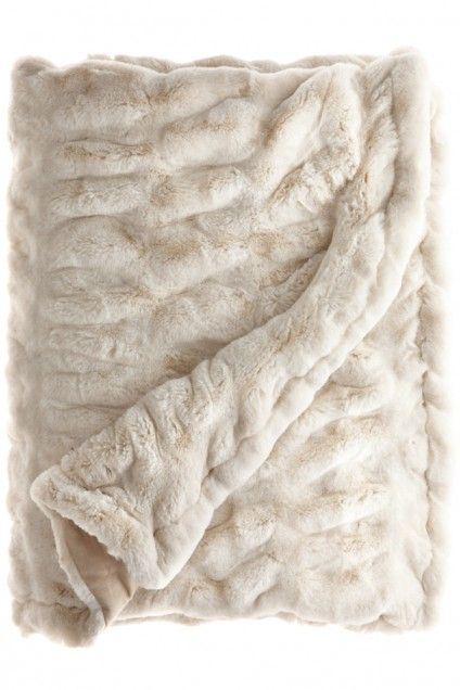 Stay cozy with this Faux Fur Throw. #home #decor Enter the code FALLFF13 at checkout to receive 25% off through 10/27.
