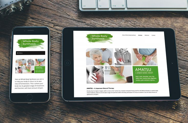 Whole Body Synthesis website that was designed by us is mobile responsive so that it works well on mobile devices and tablets. www.akgraphics.ie