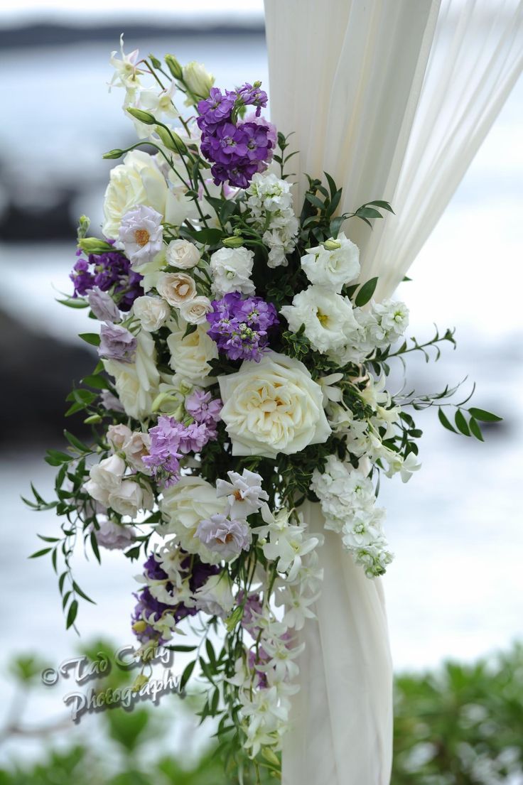 flowers for wedding arch beautiful wedding arche with purple and white flowers 4269
