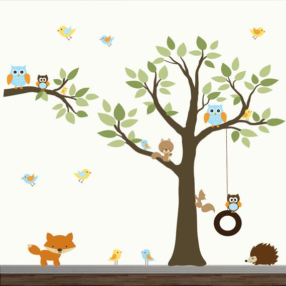 Enfants Wall stickers vinyle wall decal arbre avec par Modernwalls, $149.00
