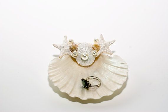Ring Bearer Scallop Shells  Scallop Shell Dish with by CereusArt, $20.00