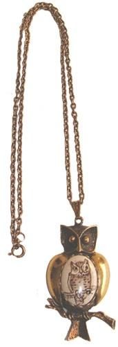 Costume Jewelry Owl Necklace