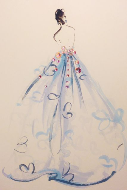 Met Ball 2014 Fashion Sketches - Katie Rodgers Drawings