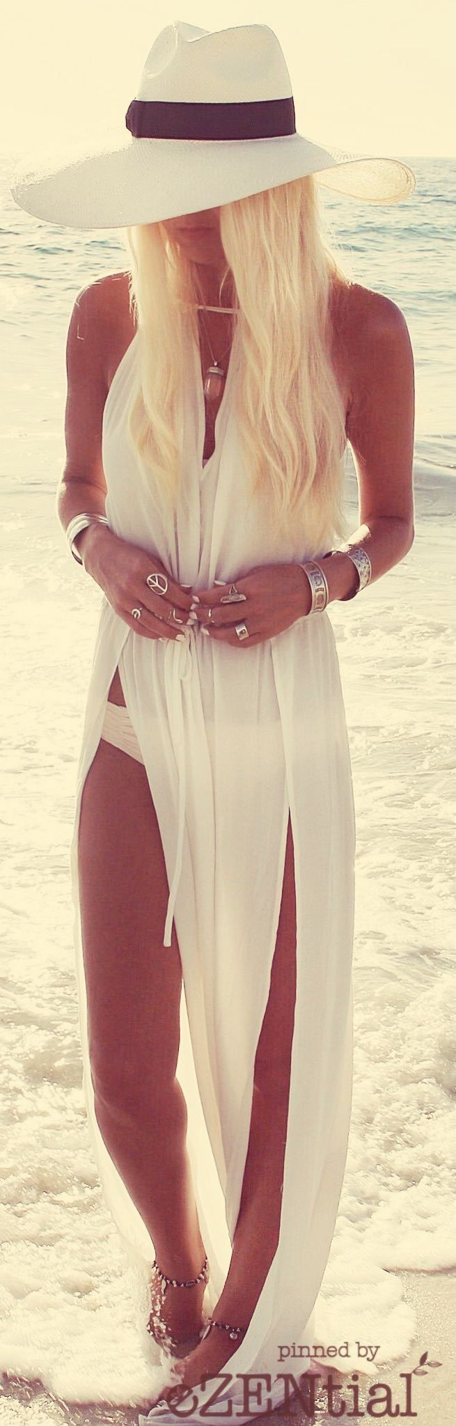 Floor length beach kimono for pairing with bikini or bathing suit For more great pins go to @KaseyBelleFox.
