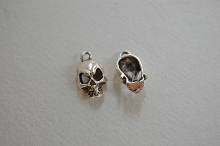 Other – 1 x human skull silver charm – a unique product by thesecretgarden on DaWanda