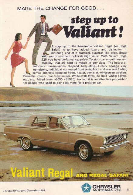 1966 Chrysler VC Valiant Ad - Australia by Five Starr Photos ( Aussiefordadverts), via Flickr