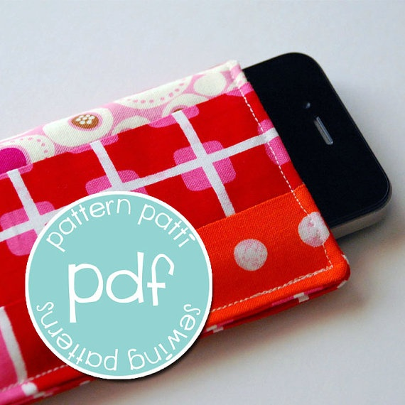 iphone ipod touch sleeve case sewing pattern - 3 sizes - business credit card - moo card size