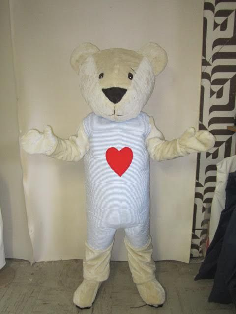 Completed IKEA Fabler Bjorn Teddy Bear mascot costume (Front)