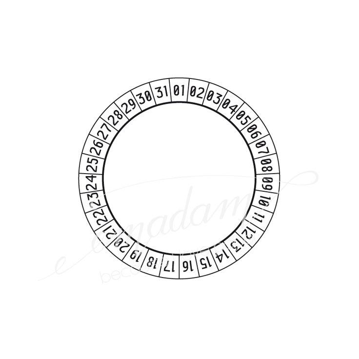 Stempel - Kreis 31-Einzigartige Papierprodukte