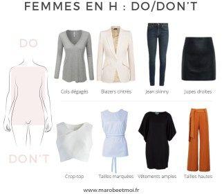 Pour savoir comment habiller sa morphologie en H, rendez-vous sur le blog www.marobeetmoi.fr