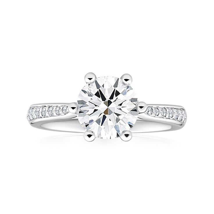 'Fortia' Solitaire Diamond 18ct Gold Ring (TW=2.1CT)
