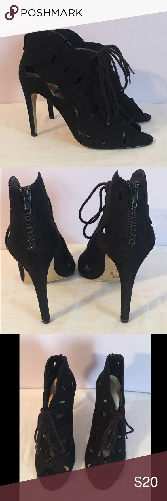 Black Lace Up Heel Black Lace Up Heel-so comfy and super cute! ELLE Shoes Heels