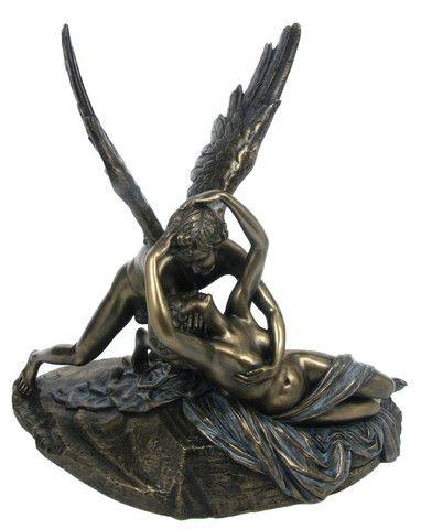 Psyche Revived by Cupid's Kiss Veronese Antonio Canova's Bronze Figurine. Love
