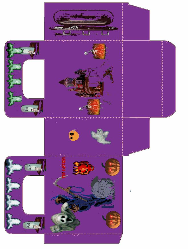 55 best images about paper boxes halloween on pinterest - Dibujos de halloween ...