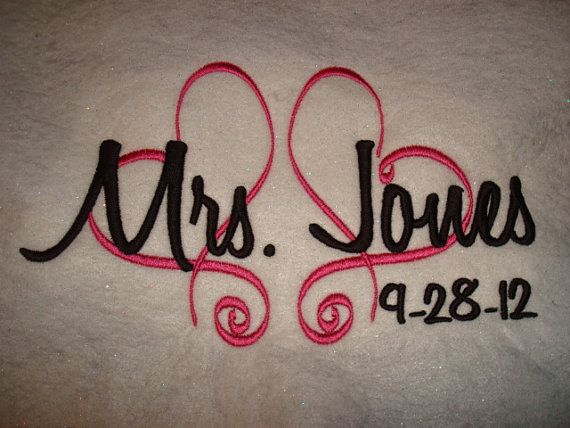 Personalized  Hearts Brides or Mrs. Wedding full zip by captonrob