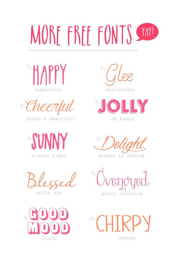 Happy Free Fonts