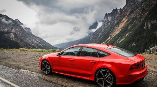 Audi Rs7 Red 8k Wallpaper Hd Wallpaper Wallpaper