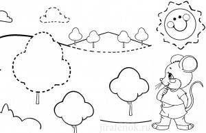 деревья прописи пунктиром1
