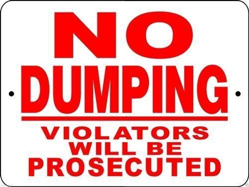 NO DUMPING ALUMINUM SIGN ND1