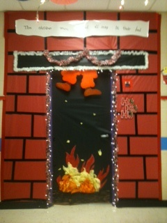 Kindergarten door for Christmas