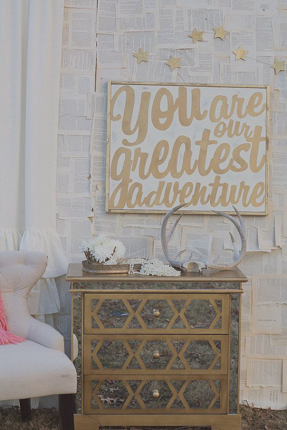 Perfect nursery wall art...Our Greatest Adventure Sign by TheHouseofBelonging on Etsy