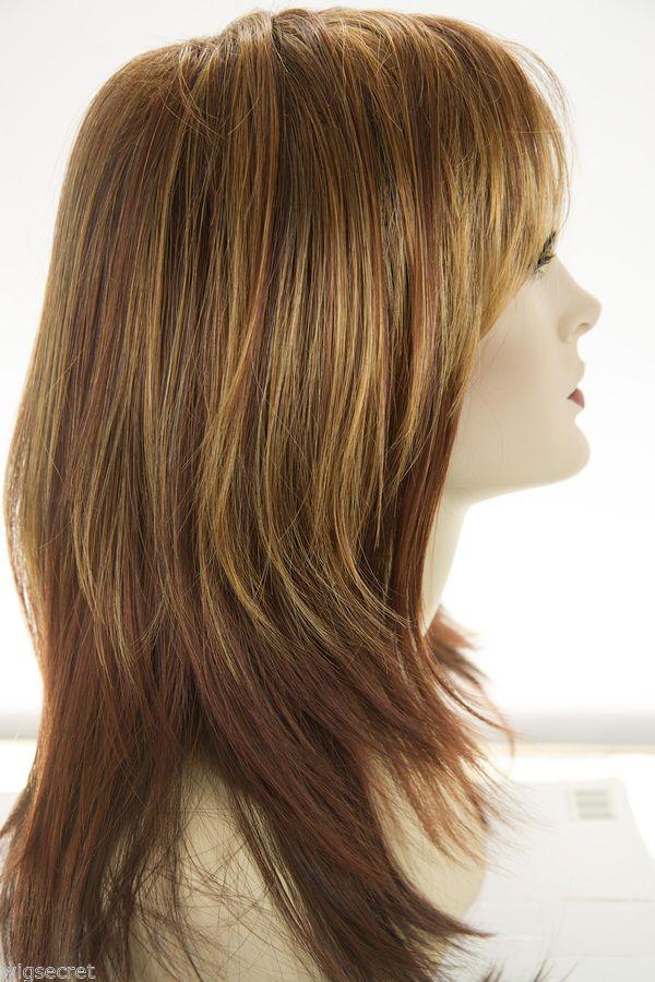 Angelique Long Medium Jon Renau Large Cap Straight Blonde Brunette Red Wigs Brunette To Blonde Red Wigs Long Hair Styles