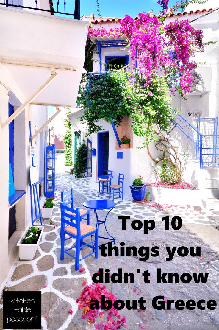 10 things you never knew about Greece - from Kitchen Table Passport.  The April 2015 box of the month featured Greece.  You can experience one country a month with all five senses, right from your own kitchen table!   www.kitchentablepassport.com  Check it out!
